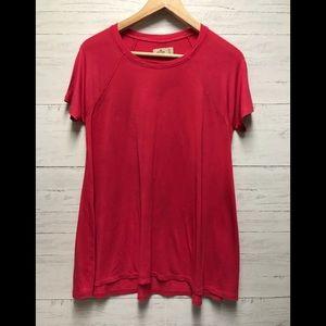 Hollister women's pink long t shirt size medium